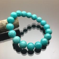 Vòng tay phong thủy đá amazonite 12mm