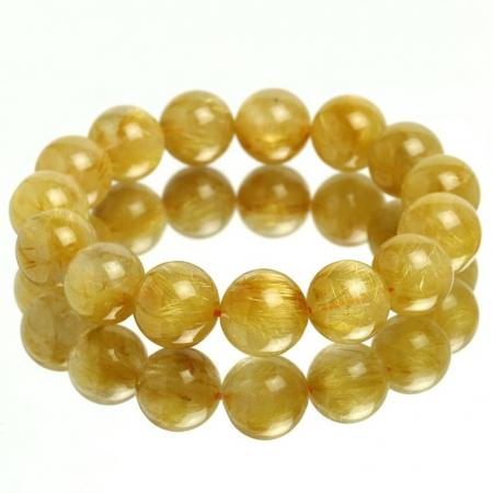 vòng tay phong thủy thạch anh tóc vàng 3,5A