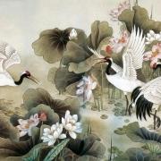 tranh chim hạc