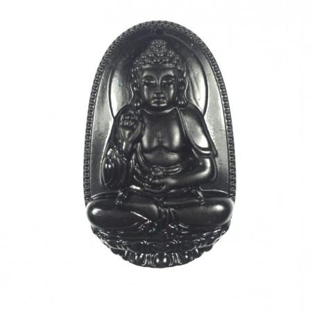 Phật bản mệnh a di đà ngọc Obsidian