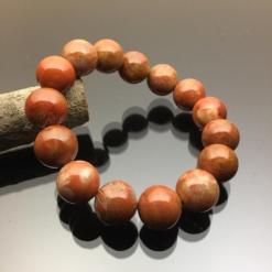 Vòng tay phong thủy đá san hô đỏ hóa thạch 14mm