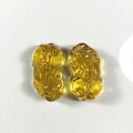 tỳ hưu pha lê vàng