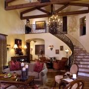 Phong thủy cầu thang phòng khách cho nhà biệt thự