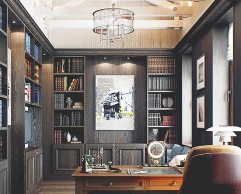 Sắp xếp phòng đọc sách tạo sự tập trung và thoải mái