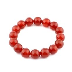 vòng tay phong thủy đá mã não đỏ