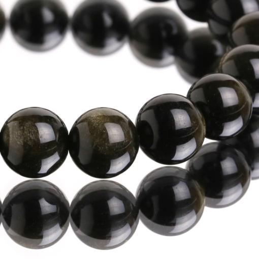 Vòng tay phong thủy đá obsidian ánh vàng