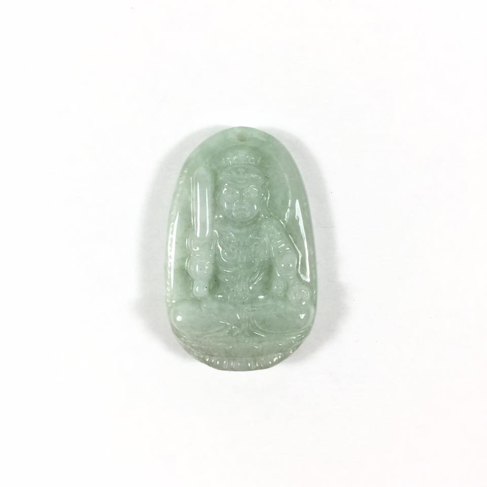 Mặt dây chuyền Phật bản mệnh Bất Động Minh Vương đá cẩm thạch