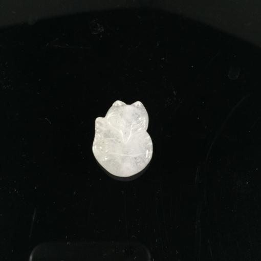 Mặt dây chuyền Hồ Ly đá thạch anh trắng 1