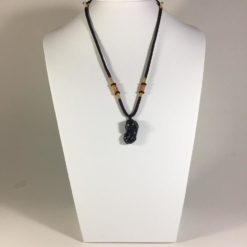 Mặt dây chuyền Tỳ Hưu đá Obsidian 2