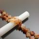 Chuỗi hạt đá mã não hình hoa mai màu cam 12mm