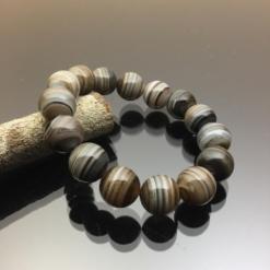 vòng tay đá mã não Botswana Agate 14mm