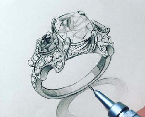 Cách vẽ một chiếc nhẫn