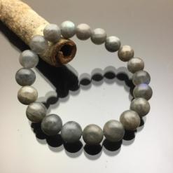 Vòng tay phong thủy đá Labradorite xà cừ 10mm