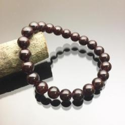 Vòng tay phong thủy ngọc hồng lựu 8mm