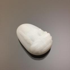 Mặt dây chuyền Bất Động Minh Vương đá calcite trắng