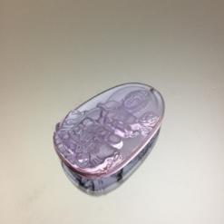 Mặt dây chuyền Bồ Tát Phổ Hiền pha lê Amethyst
