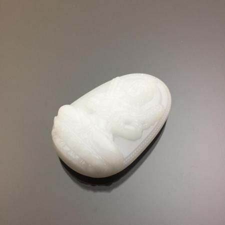 Mặt dây chuyền Hư Không Tạng Bồ Tát đá calcite
