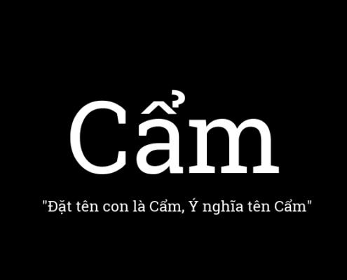 Ý nghĩa tên Cẩm
