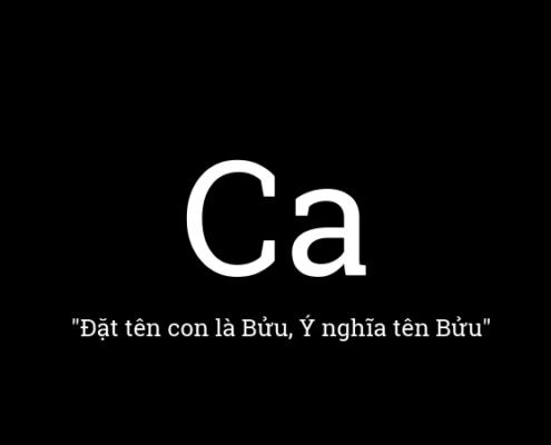Ý nghĩa tên Ca, đặt tên con là Ca